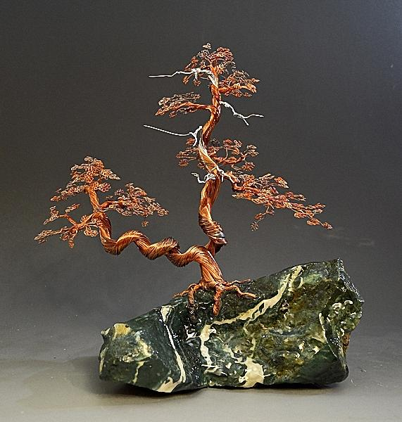 Bonsai Copper Wire Tree Sculpture 2217 Free Shipping Sculpture By Omer Huremovic