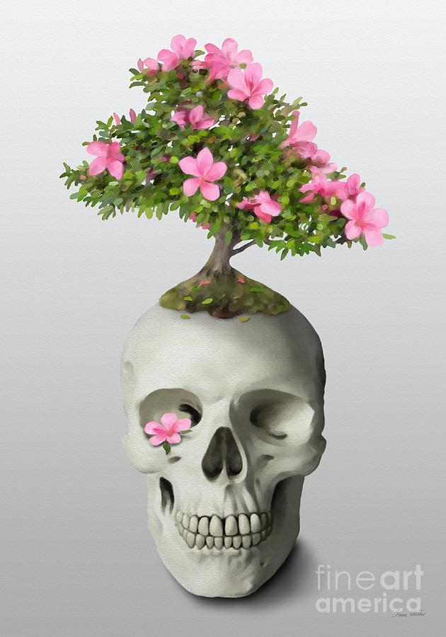 Painting Painting - Bonsai Skull by Ivana Westin