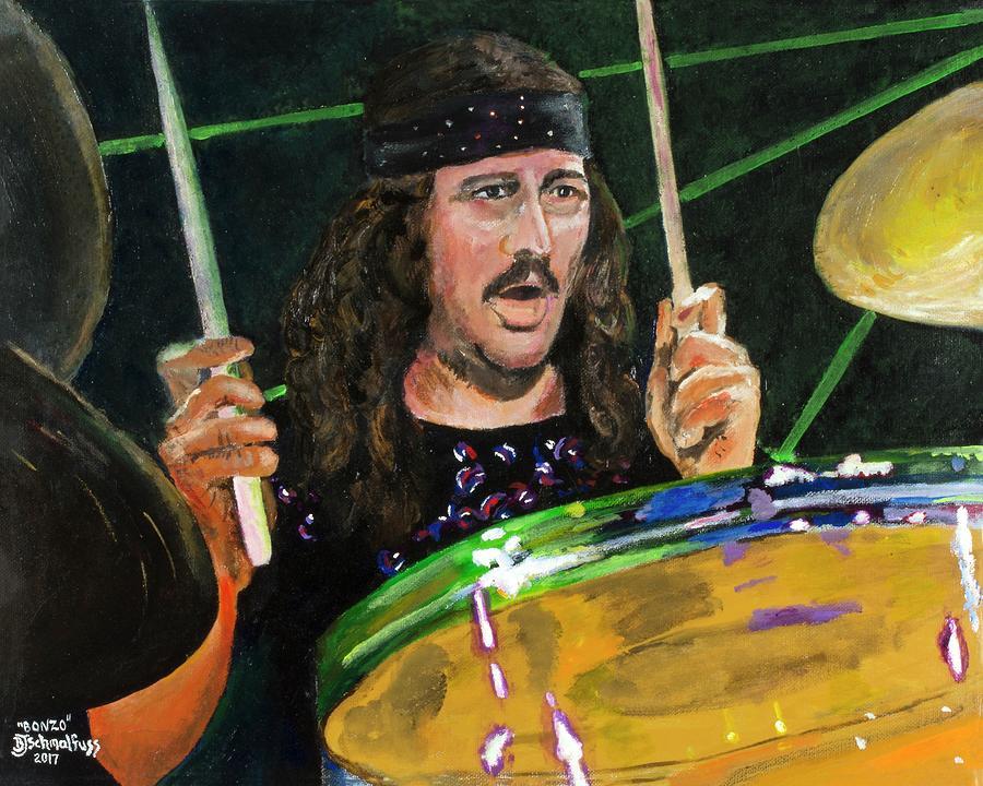Bonzo Painting - Bonzo - John Bonham by Bruce Schmalfuss