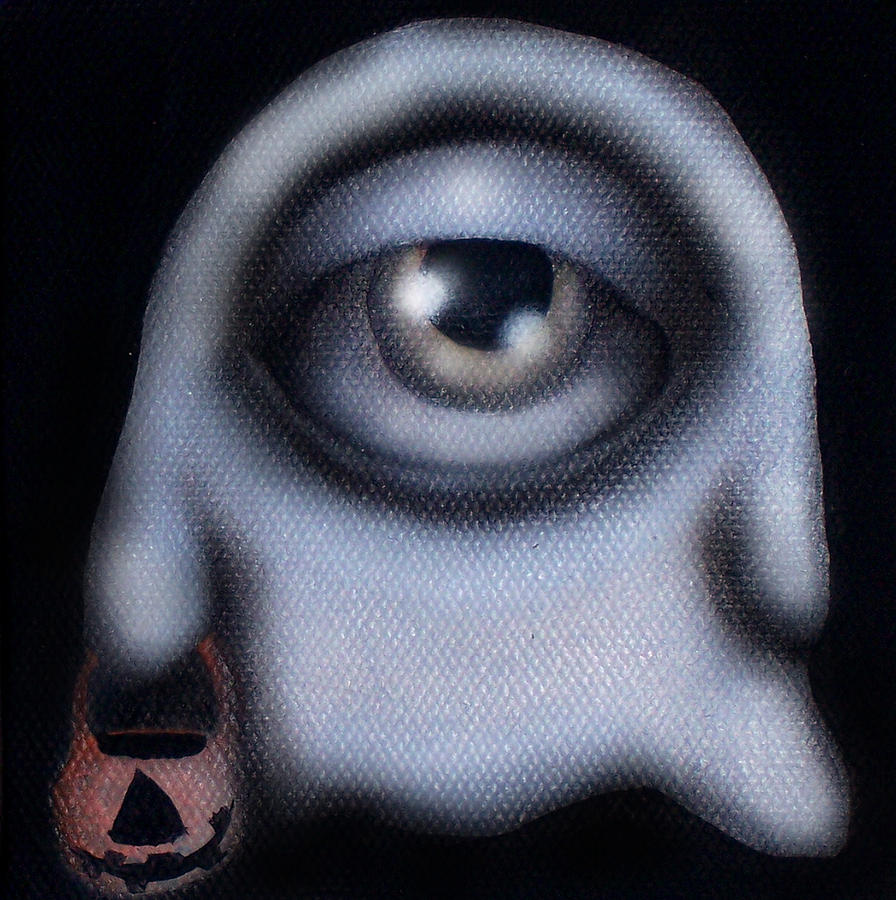 Halloween Painting - Boo by  Abril Andrade Griffith