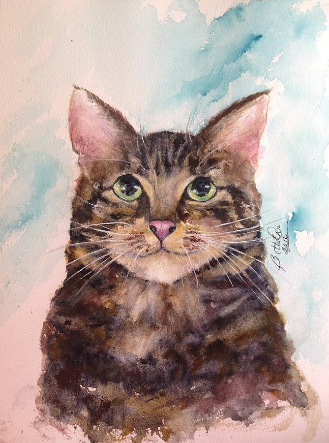 Watercolor Painting - Boo Boo by Bette Orr
