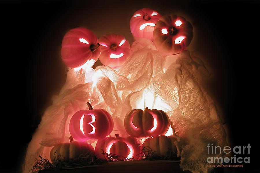 Halloween Photograph - Boo by Katrina Perekrestenko