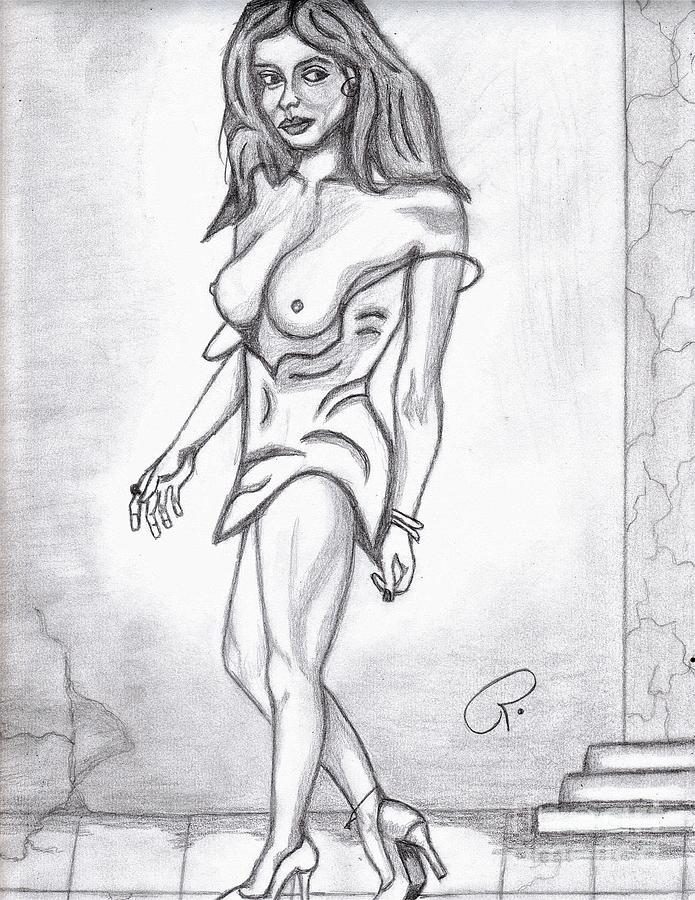 Nude Painting - Boob Walker by Richard Heyman