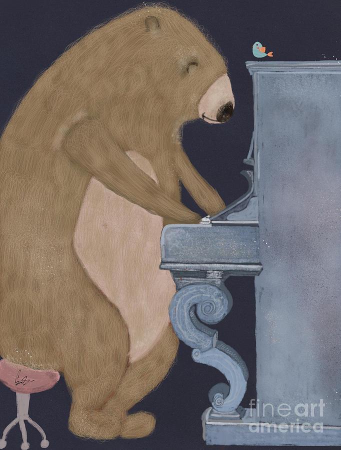 Bears Painting - Boogie Bear  by Bri Buckley