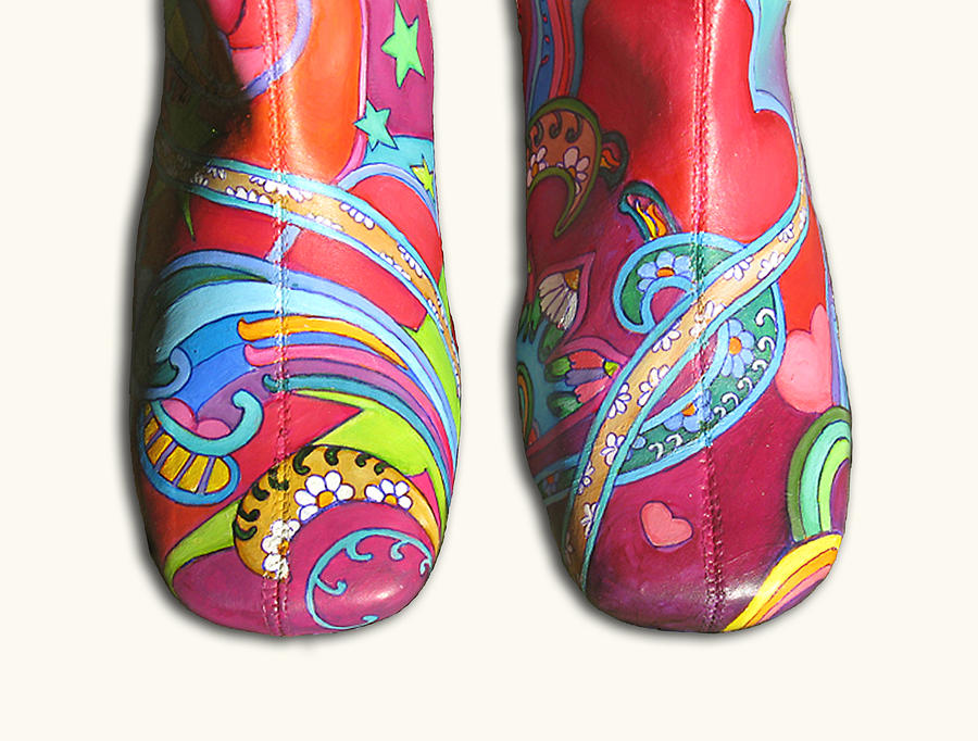 Boogie Shoes Painting - Boogie Shoes by Mary Johnson