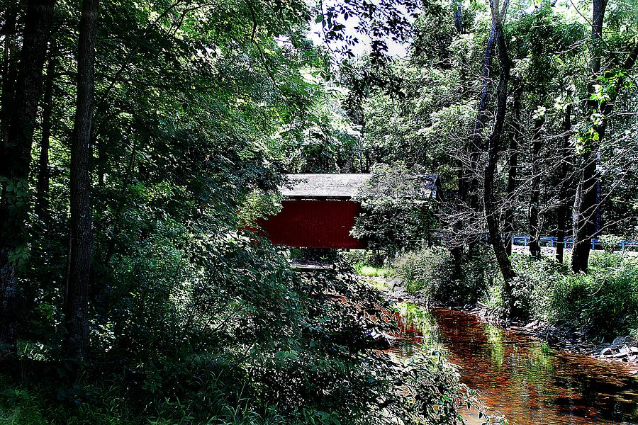Book Covered Bridge by Wayne Toutaint