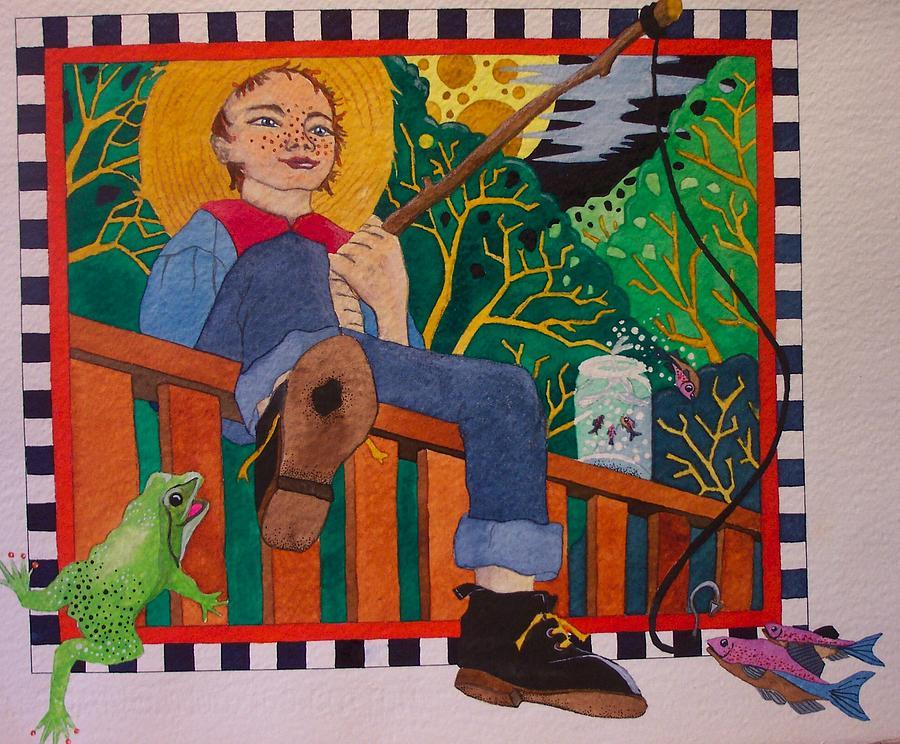 Children Painting - book illustration - Tom Sawyer by Victoria Heryet