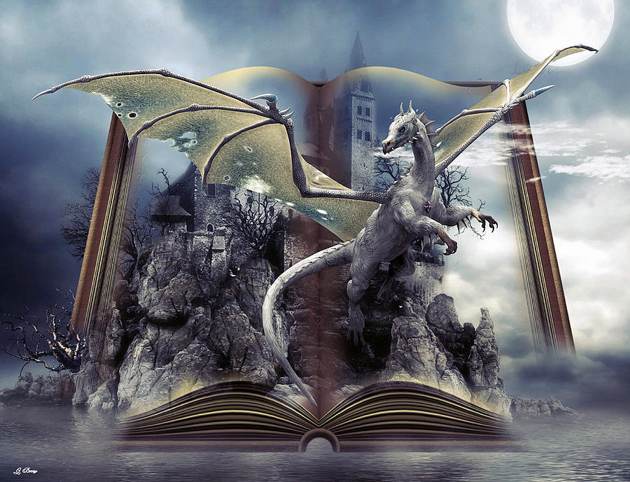 Dragons Mixed Media - Book Of Fantasies by G Berry