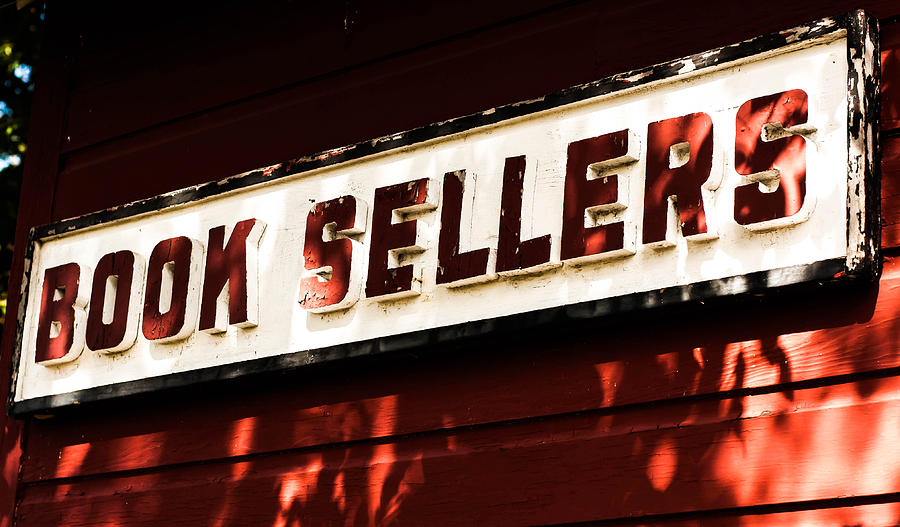 Wall Photograph - Book Sellers In Red by Terepka Dariusz