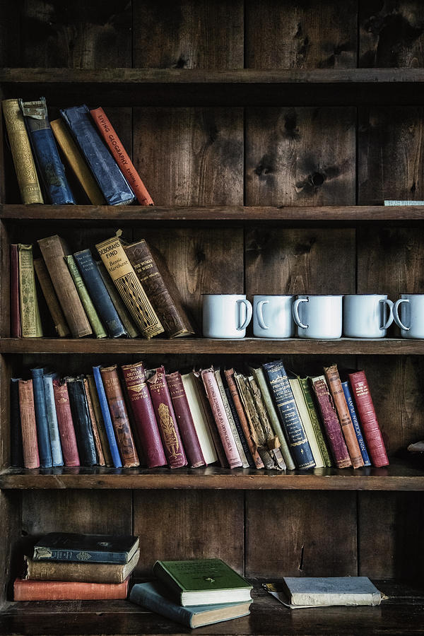 Book Photograph - Book Shelf by Joana Kruse