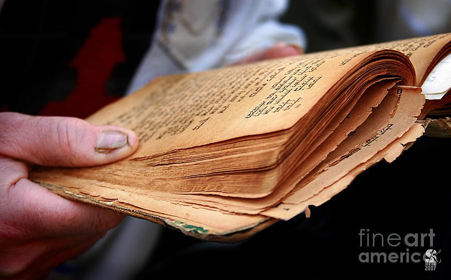 Hebrew Photograph - Book Torah by Stas Krupetsky