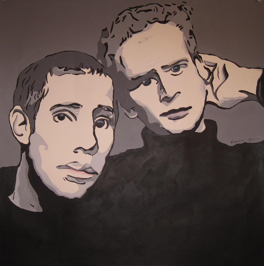 Paul Simon Painting - Bookends by Rebecca Jankowitz