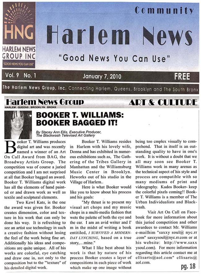 Booker In Harlem News Digital Art - Booker In Harlem News by Booker Williams