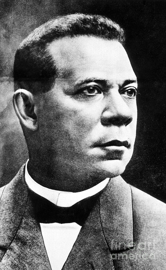 History Photograph - Booker T. Washington, African-american by Photo Researchers