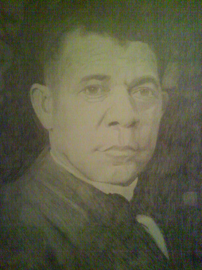 Famous Drawing - Booker T. Washington  by Milton  Gore