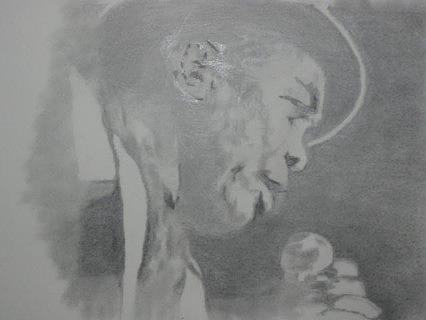 Bluesman Drawing - Boom Boom Boom by B Jaxon