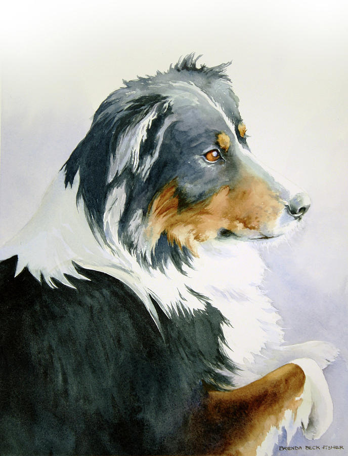 Dog Painting - Boomer by Brenda Beck Fisher
