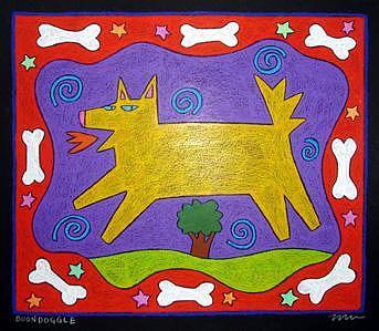 Dog Painting - Boondoggle by Nancy  Coffelt