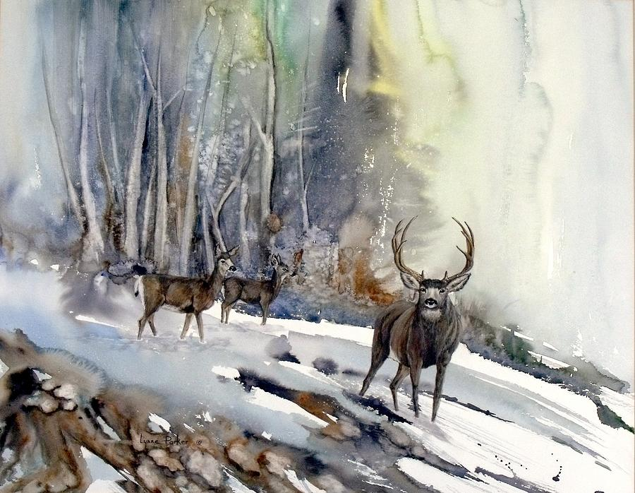 Mule Deer Painting - Boone and Crockett by Lynne Parker
