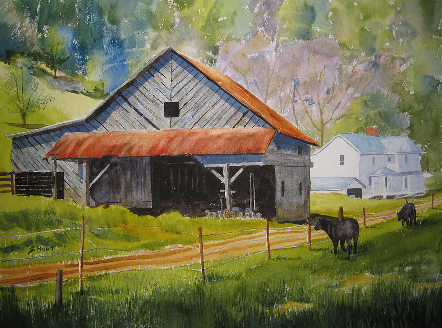 Rustic Painting - Boone Farm by Shirley Braithwaite Hunt