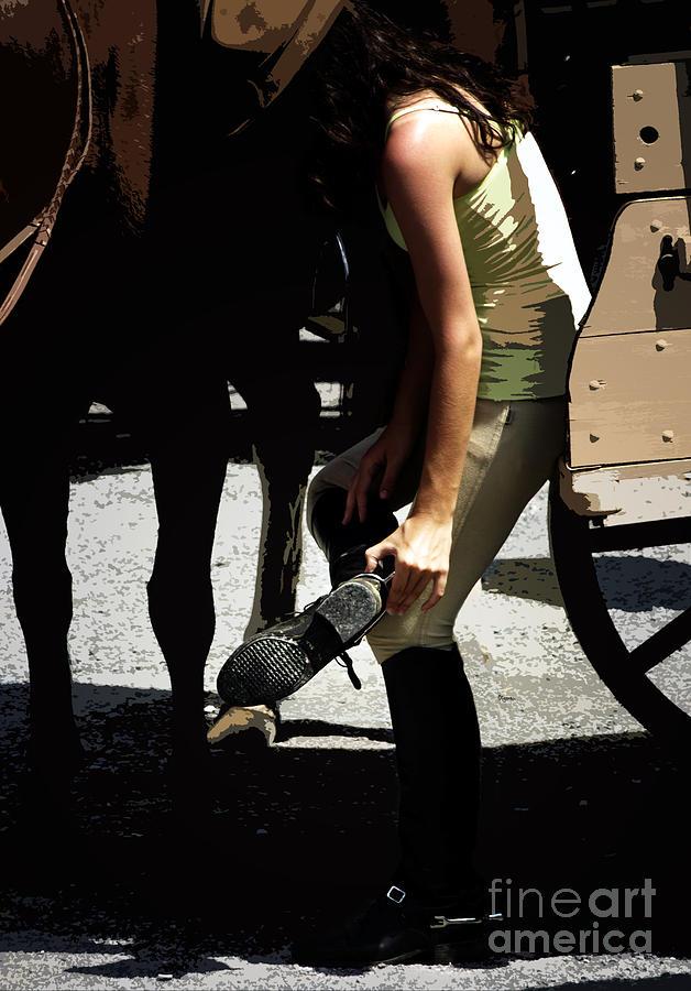 Women Photograph - Boot Check  by Steven Digman