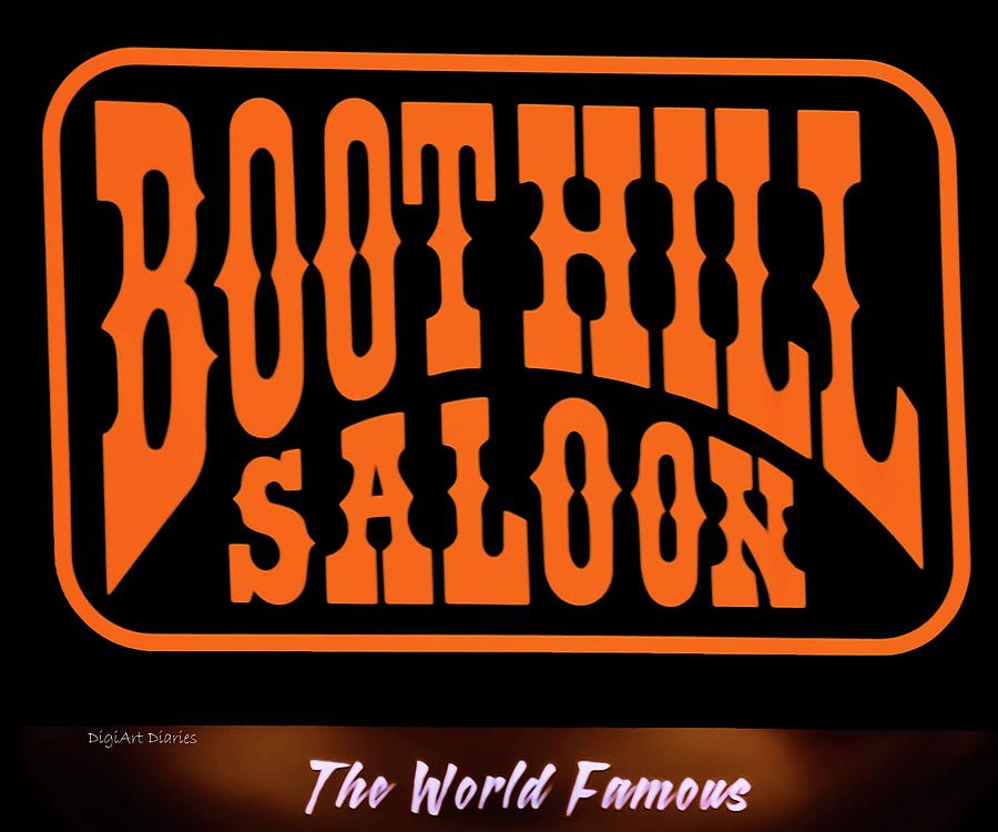 Boot Hill Photograph - Boot Hill Saloon Sign by DigiArt Diaries by Vicky B Fuller