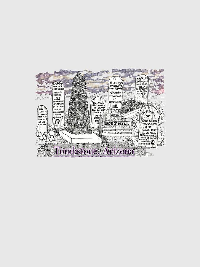 Boot Hill Tombstone Arizona By James Lewis Hamilton