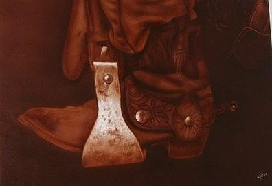 Boot Mixed Media by Wilson  Lopez