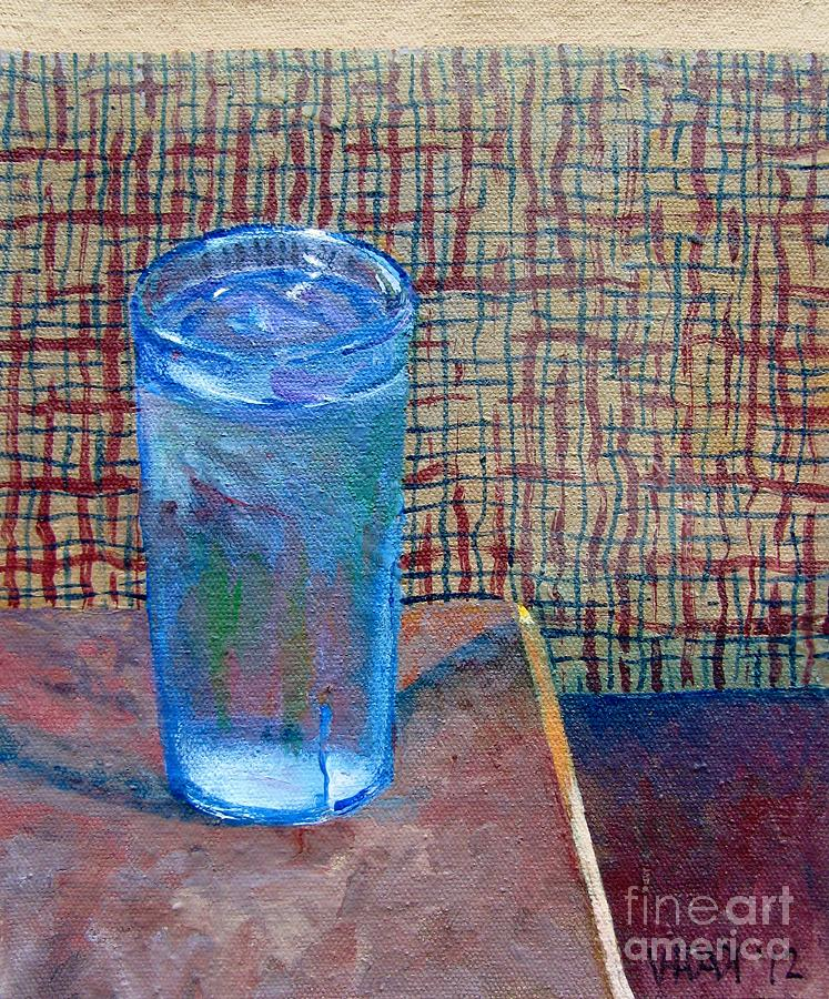 Water Glass Painting - Booth by Vanessa Hadady BFA MA