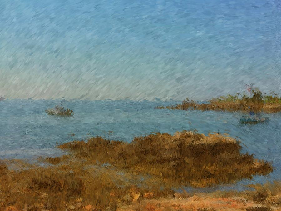 Boothbay Harbor Painting - Boothbay Calm Day Ocean View by Viktor Arsenov