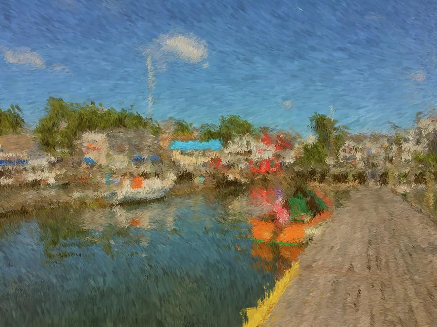 Boothbay Harbor Painting - Boothbay Harbor At 5 by Viktor Arsenov