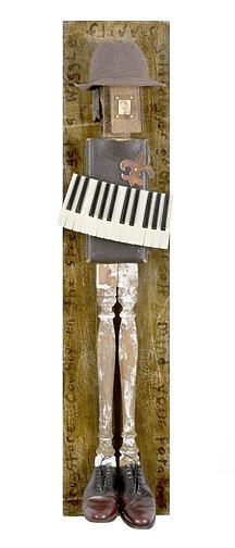Piano Keys Mixed Media - Bootleg by Benjamin Bullins