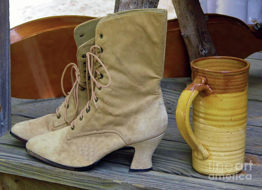 Boots And A Mug by D Hackett