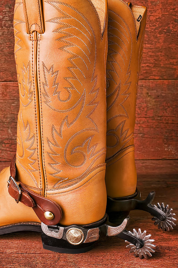 Boot Photograph - Boots With Spurs by Garry Gay