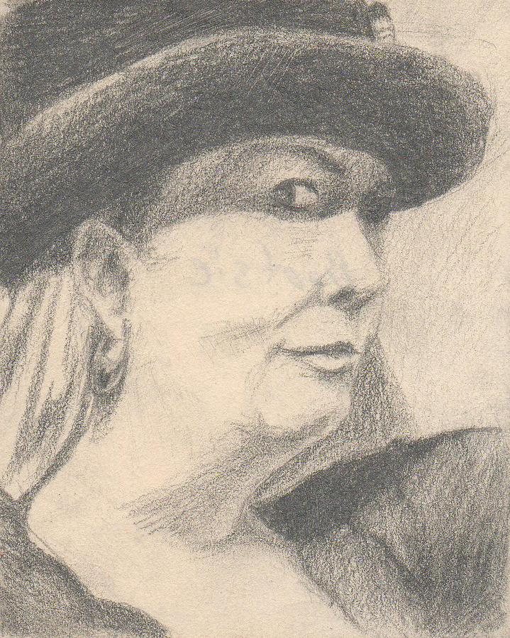 Small Drawing - Bootsie by T Ezell