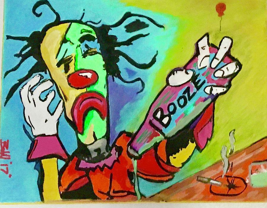Booze Painting by Buddy Nicholson