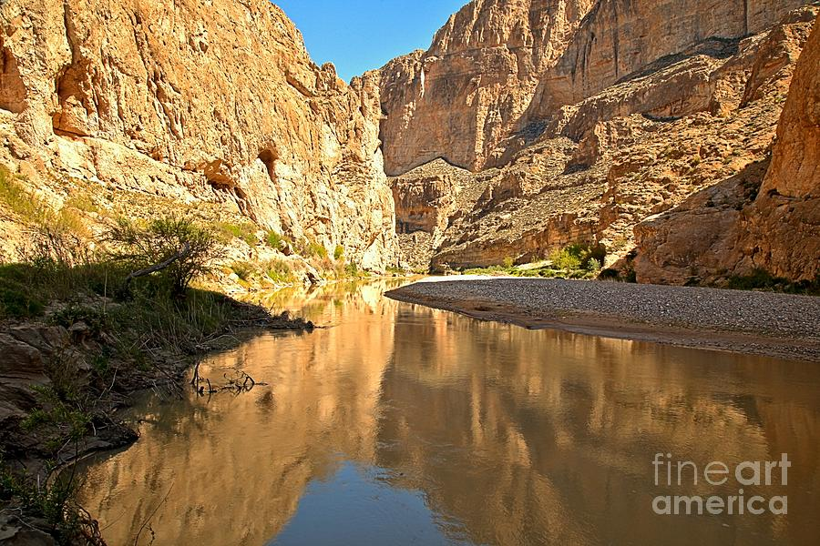 Boquillas Canyon Photograph - Boquillas Canyon Reflections by Adam Jewell