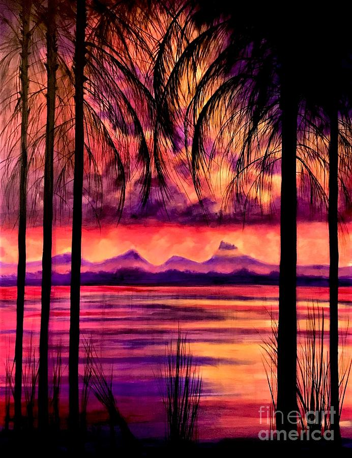 Bora Bora  Painting by Allison Constantino