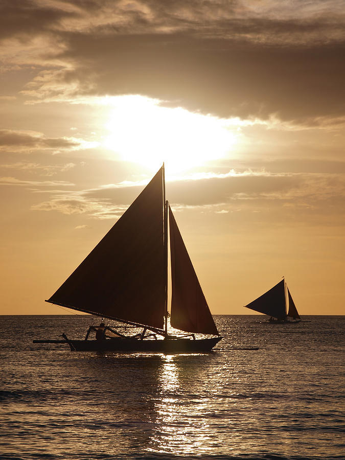Sunset Photograph - Boracay Philippines A 169 by Per Lidvall