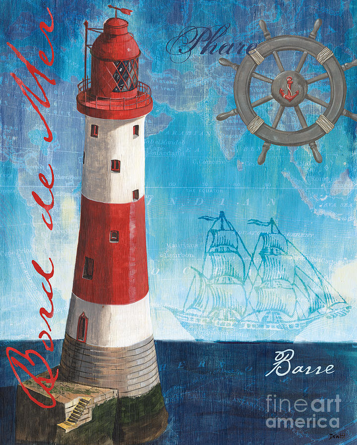 Coastal Painting - Bord de Mer by Debbie DeWitt
