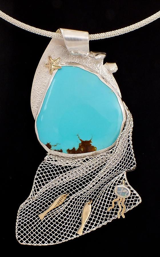 Ocean Jewelry - Bord de Mer or Sea Shore Necklace by Marie-Claire Dole