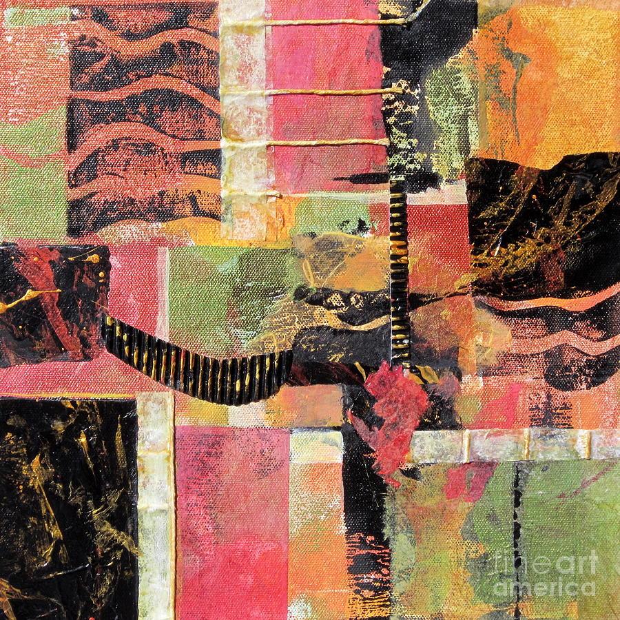 Mixed Media Painting - Bordeaux by Deborah Ronglien