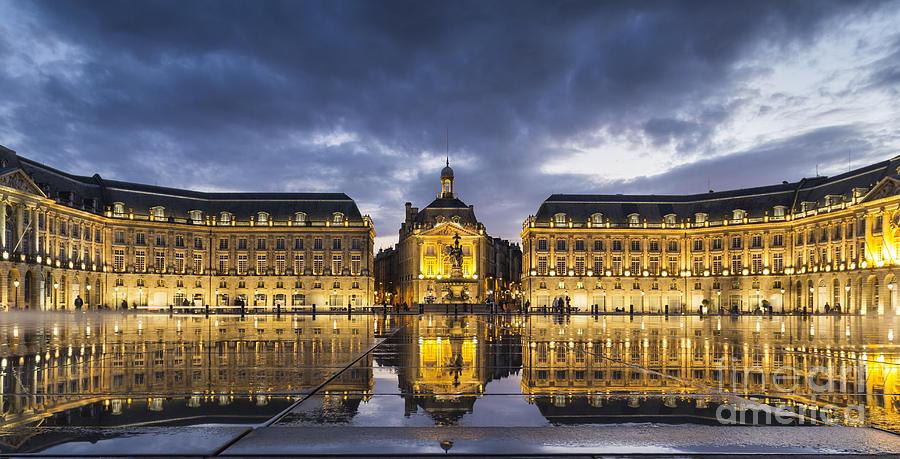 Bordeaux Photograph - Bordeaux Place De La Bourse  by Pier Giorgio Mariani