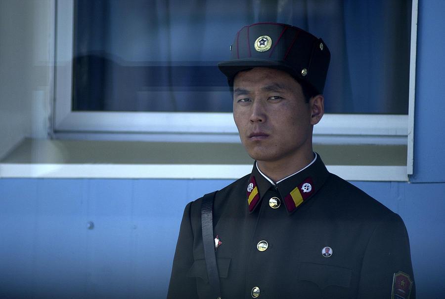 North Korea Photograph - Border Guard by Eric Foltz