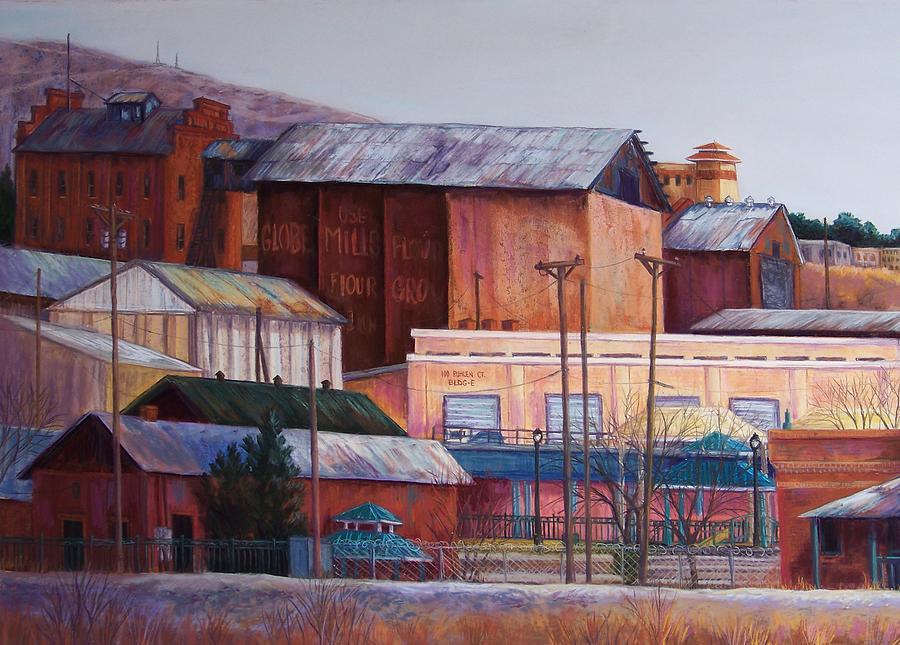 Landscape Pastel - Borderland Mills by Candy Mayer