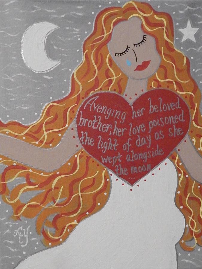 Holy Painting - Borghild by Angela Yarber