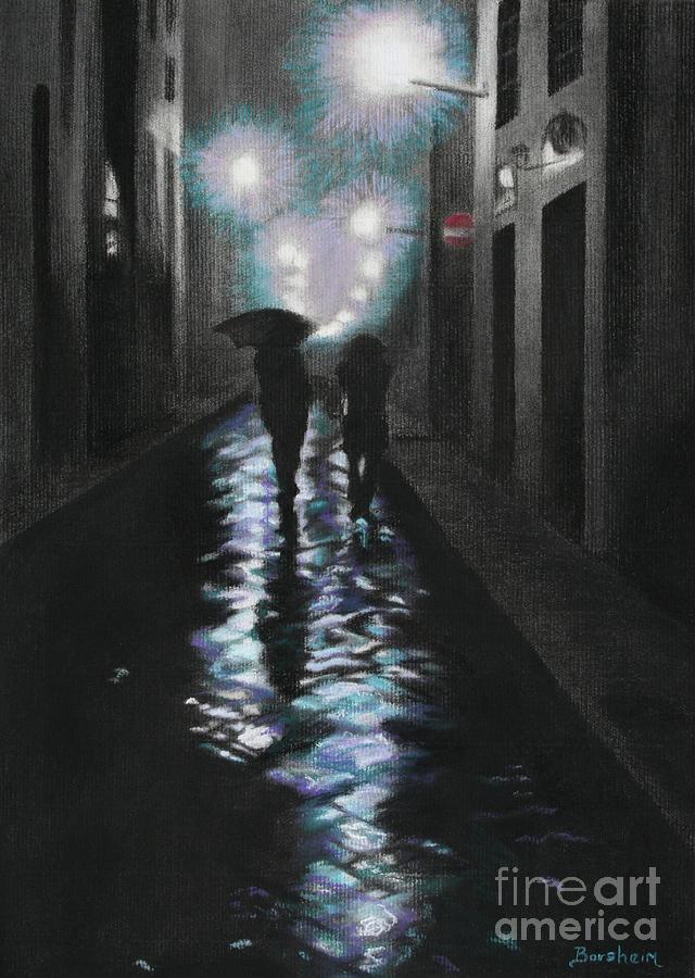 Rain Pastel - Borgo Degli Albizi Florence Italy by Kelly Borsheim