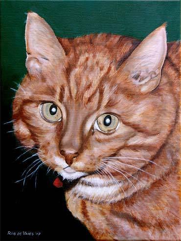 Pets Painting - Boris by Rob De Vries