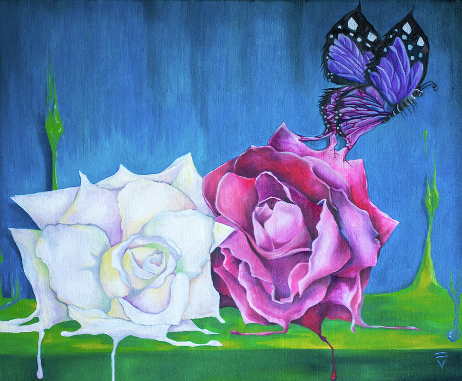 Roses Painting - Born From Beauty by Victoria Dietz