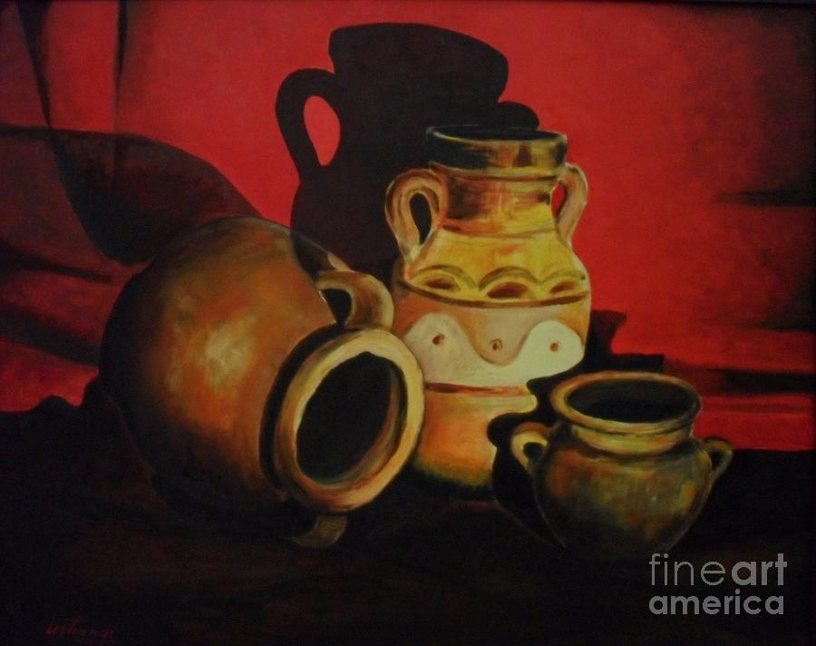 Pottery Painting - Born In Fire by Ushangi Kumelashvili